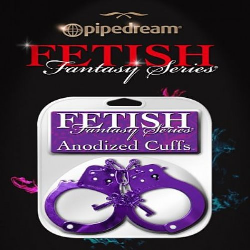 "pd381612Fetish Fantasy Series Anodized Cuffs Purple ""a.d"