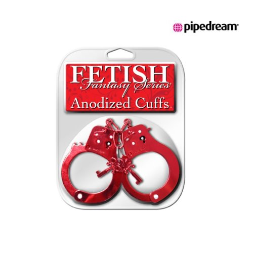 "pd381615Fetish Fantasy Series Anodized Cuffs Red""a.d"